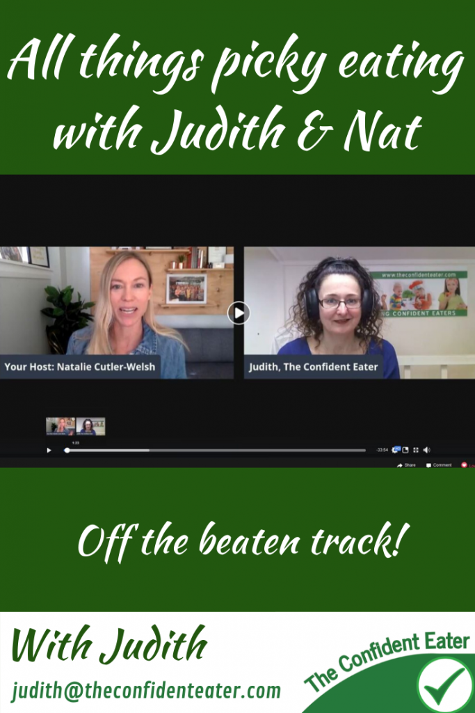All things picky eating - off the beaten track with Judith & Natlie Go-to-Girl #guestinterview #supportingapickyeater #supportingafussyeater #pickyeater # pickyeating #helppickyeater #helpfussyeater #helpingpickyeater #helpingfussyeater #helppickyeating #helpfussyeating #fussyeating #judithyeabsley #fussyeater #theconfidenteater #addingfoods #wellington #NZ #creatingconfidenteaters #facebookgroup