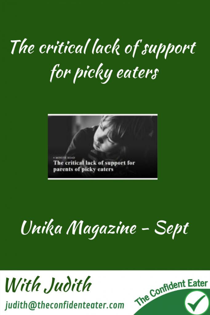The critical lack of support for parents of picky eaters #helpforpickyeaters #helpforpickyeating #Foodforpickyeaters #theconfidenteater #wellington #NZ #judithyeabsley #helpforfussyeating #helpforfussyeaters #fussyeater #fussyeating #pickyeater #picky eating #supportforpickyeaters #theconfidenteater #creatingconfidenteaters #newfoods #bookforpickyeaters #thecompleteconfidenceprogram