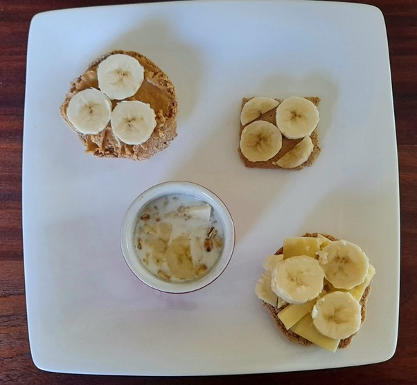 Bananas on toast, crackers, cereal - recipe for picky eaters and fussy eaters #bananaontoast #bananaoncrackers #bananaoncereal #funbananas, #bananarecipe, #funfoodsforpickyeaters, #funfoodsdforfussyeaters, #Recipesforpickyeaters, #helpforpickyeaters, #helpforpickyeating, #Foodforpickyeaters, #theconfidenteater, #wellington, #NZ, #judithyeabsley, #helpforfussyeating, #helpforfussyeaters, #fussyeater, #fussyeating, #pickyeater, #pickyeating, #supportforpickyeaters, #winnerwinnerIeatdinner, #creatingconfidenteaters, #newfoods, #bookforpickyeaters, #thecompleteconfidenceprogram, #thepickypack