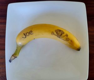 Banana writing - recipe for picky eaters and fussy eaters #bananawriting, #funbananas, #bananarecipe, #funfoodsforpickyeaters, #funfoodsdforfussyeaters, #Recipesforpickyeaters, #helpforpickyeaters, #helpforpickyeating, #Foodforpickyeaters, #theconfidenteater, #wellington, #NZ, #judithyeabsley, #helpforfussyeating, #helpforfussyeaters, #fussyeater, #fussyeating, #pickyeater, #pickyeating, #supportforpickyeaters, #winnerwinnerIeatdinner, #creatingconfidenteaters, #newfoods, #bookforpickyeaters, #thecompleteconfidenceprogram, #thepickypack