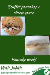 Pancake stuffed + cheese sauce for fussy or picky eaters #pancakestuffed, #pancakewithcheesesauce, #funpancakes, #pancakes, #funfoodsforpickyeaters, #funfoodsdforfussyeaters, #Recipesforpickyeaters, #helpforpickyeaters, #helpforpickyeating, #Foodforpickyeaters, #theconfidenteater, #wellington, #NZ, #judithyeabsley, #helpforfussyeating, #helpforfussyeaters, #fussyeater, #fussyeating, #pickyeater, #pickyeating, #supportforpickyeaters, #winnerwinnerIeatdinner, #creatingconfidenteaters, #newfoods, #bookforpickyeaters, #thecompleteconfidenceprogram, #thepickypack