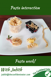 Pasta interaction, getting picky eaters and fussy eaters eating #pastainteraction, #pastarecipes, #funpasta, #pastaforpickyeaters, #pastaforfussyeaters, #funfoodsforpickyeaters, #funfoodsdforfussyeaters, #Recipesforpickyeaters, #helpforpickyeaters, #helpforpickyeating, #Foodforpickyeaters, #theconfidenteater, #wellington, #NZ, #judithyeabsley, #helpforfussyeating, #helpforfussyeaters, #fussyeater, #fussyeating, #pickyeater, #pickyeating, #supportforpickyeaters, #winnerwinnerIeatdinner, #creatingconfidenteaters, #newfoods, #bookforpickyeaters, #thecompleteconfidenceprogram, #thepickypack