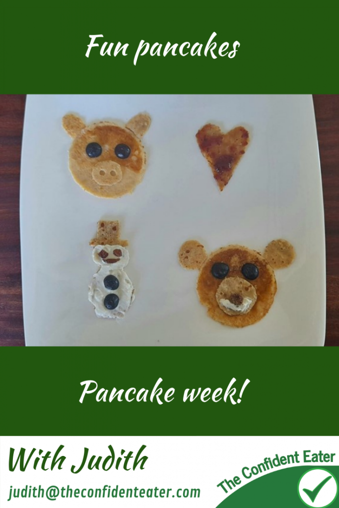 Fun pancakes for fussy or picky eaters #funpancakes, #pancakes, #funfoodsforpickyeaters, #funfoodsdforfussyeaters, #Recipesforpickyeaters, #helpforpickyeaters, #helpforpickyeating, #Foodforpickyeaters, #theconfidenteater, #wellington, #NZ, #judithyeabsley, #helpforfussyeating, #helpforfussyeaters, #fussyeater, #fussyeating, #pickyeater, #pickyeating, #supportforpickyeaters, #winnerwinnerIeatdinner, #creatingconfidenteaters, #newfoods, #bookforpickyeaters, #thecompleteconfidenceprogram, #thepickypack