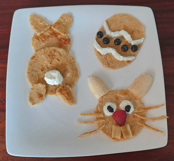 Fun pancakes – Easter recipes for picky eaters and fussy eaters #funpancakes, #funpancakesforeaster, #funeasterrecipes, #funfoodsforpickyeaters, #funfoodsdforfussyeaters, #Recipesforpickyeaters, #helpforpickyeaters, #helpforpickyeating, #Foodforpickyeaters, #theconfidenteater, #wellington, #NZ, #judithyeabsley, #helpforfussyeating, #helpforfussyeaters, #fussyeater, #fussyeating, #pickyeater, #pickyeating, #supportforpickyeaters, #winnerwinnerIeatdinner, #creatingconfidenteaters, #newfoods, #bookforpickyeaters, #thecompleteconfidenceprogram, #thepickypack