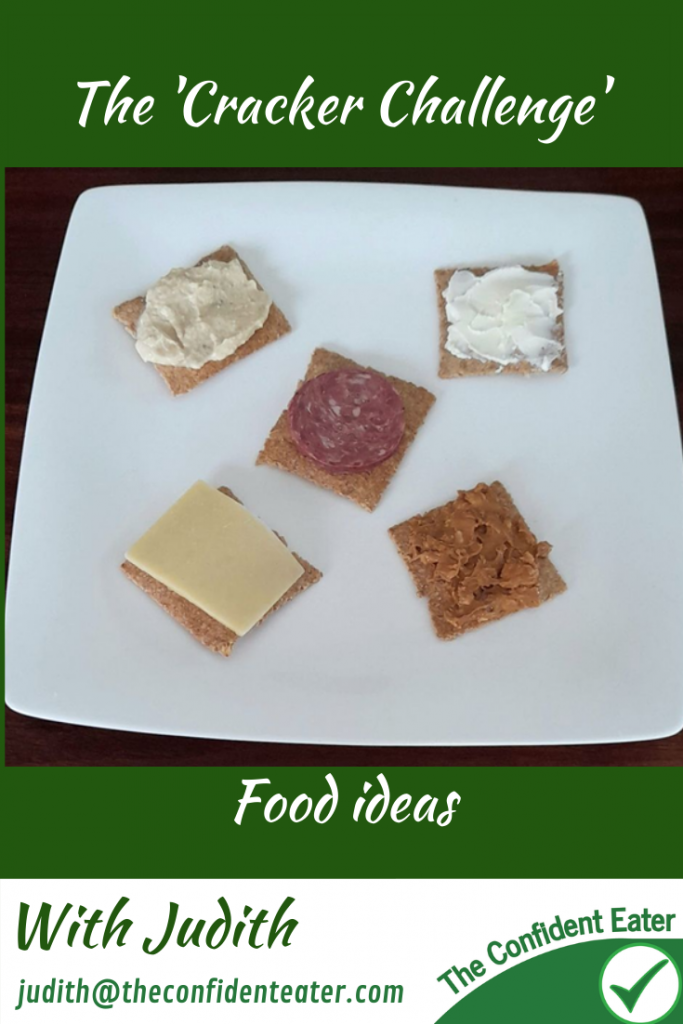 The 'Cracker Challenge' – helping picky eaters and fussy eaters with fun ways to try new foods #trynewfoods #funfoodsforpickyeaters, #funfoodsdforfussyeaters, #Recipesforpickyeaters, #helpforpickyeaters, #helpforpickyeating, #Foodforpickyeaters, #theconfidenteater, #wellington, #NZ, #judithyeabsley, #helpforfussyeating, #helpforfussyeaters, #fussyeater, #fussyeating, #pickyeater, #pickyeating, #supportforpickyeaters, #winnerwinnerIeatdinner, #creatingconfidenteaters, #newfoods, #bookforpickyeaters, #thecompleteconfidenceprogram, #thepickypack