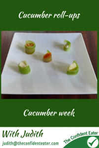 Cucumber rollups – helping picky eaters and fussy eaters with fun ways to try new foods #cucumberrollups #funcucumberideas #cucumberrecipes #trynewfoods #funfoodsforpickyeaters, #funfoodsdforfussyeaters, #Recipesforpickyeaters, #helpforpickyeaters, #helpforpickyeating, #Foodforpickyeaters, #theconfidenteater, #wellington, #NZ, #judithyeabsley, #helpforfussyeating, #helpforfussyeaters, #fussyeater, #fussyeating, #pickyeater, #pickyeating, #supportforpickyeaters, #winnerwinnerIeatdinner, #creatingconfidenteaters, #newfoods, #bookforpickyeaters, #thecompleteconfidenceprogram, #thepickypack