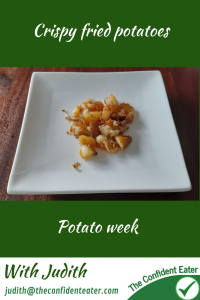 Crispy fried potatoes #crispyfriedpotatoes #trynewfoods #funfoodsforpickyeaters, #funfoodsdforfussyeaters, #Recipesforpickyeaters, #helpforpickyeaters, #helpforpickyeating, #Foodforpickyeaters, #theconfidenteater, #wellington, #NZ, #judithyeabsley, #helpforfussyeating, #helpforfussyeaters, #fussyeater, #fussyeating, #pickyeater, #pickyeating, #supportforpickyeaters, #winnerwinnerIeatdinner, #creatingconfidenteaters, #newfoods, #bookforpickyeaters, #thecompleteconfidenceprogram, #thepickypack