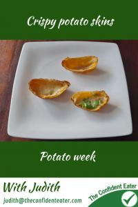 Crispy potato skins #crispypotatoskins, #potatoskins, #potatoideas, #trynewfoods, #funfoodsforpickyeaters, #funfoodsdforfussyeaters, #Recipesforpickyeaters, #helpforpickyeaters, #helpforpickyeating, #Foodforpickyeaters, #theconfidenteater, #wellington, #NZ, #judithyeabsley, #helpforfussyeating, #helpforfussyeaters, #fussyeater, #fussyeating, #pickyeater, #pickyeating, #supportforpickyeaters, #winnerwinnerIeatdinner, #creatingconfidenteaters, #newfoods, #bookforpickyeaters, #thecompleteconfidenceprogram, #thepickypack