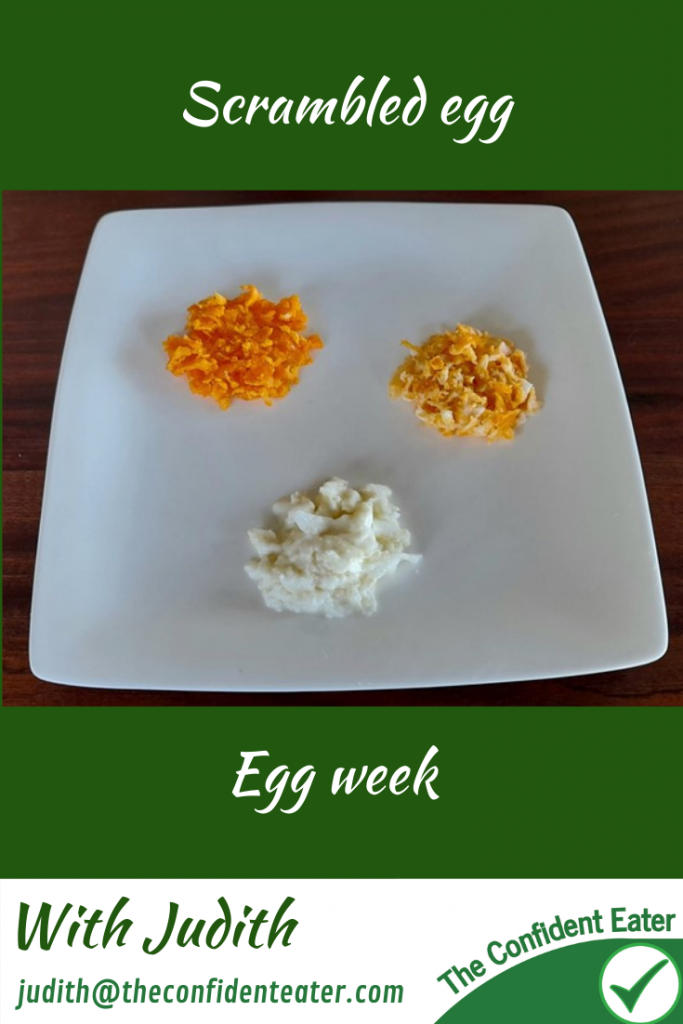 Scrambled egg – for picky eaters and fussy eaters #scrambledeggs, #eggrecipes, #eggideas, #trynewfoods, #funfoodsforpickyeaters, #funfoodsdforfussyeaters, #Recipesforpickyeaters, #helpforpickyeaters, #helpforpickyeating, #Foodforpickyeaters, #theconfidenteater, #wellington, #NZ, #judithyeabsley, #helpforfussyeating, #helpforfussyeaters, #fussyeater, #fussyeating, #pickyeater, #pickyeating, #supportforpickyeaters, #winnerwinnerIeatdinner, #creatingconfidenteaters, #newfoods, #bookforpickyeaters, #thecompleteconfidenceprogram, #thepickypack