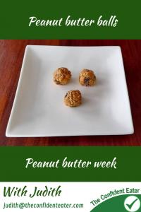 Peanut butter balls #peanutbutterballs, #peanutbutterrecipes, #trynewfoods, #funfoodsforpickyeaters, #funfoodsdforfussyeaters, #Recipesforpickyeaters, #helpforpickyeaters, #helpforpickyeating, #Foodforpickyeaters, #theconfidenteater, #wellington, #NZ, #judithyeabsley, #helpforfussyeating, #helpforfussyeaters, #fussyeater, #fussyeating, #pickyeater, #pickyeating, #supportforpickyeaters, #winnerwinnerIeatdinner, #creatingconfidenteaters, #newfoods, #bookforpickyeaters, #thecompleteconfidenceprogram, #thepickypack