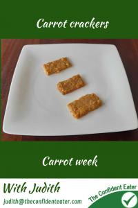 Carrot crackers #carrotcrackers, #carrotrecipes, #trynewfoods, #funfoodsforpickyeaters, #funfoodsdforfussyeaters, #Recipesforpickyeaters, #helpforpickyeaters, #helpforpickyeating, #Foodforpickyeaters, #theconfidenteater, #wellington, #NZ, #judithyeabsley, #helpforfussyeating, #helpforfussyeaters, #fussyeater, #fussyeating, #pickyeater, #pickyeating, #supportforpickyeaters, #winnerwinnerIeatdinner, #creatingconfidenteaters, #newfoods, #bookforpickyeaters, #thecompleteconfidenceprogram, #thepickypack