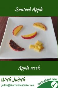 Sauteed apple – for fussy eaters #sauteedapple, #applerecipesforfussyeaters, #applerecipesforpickyeaters, #coleslaw, #carrotcoleslaw #carrotrecipes, #trynewfoods, #funfoodsforpickyeaters, #funfoodsdforfussyeaters, #Recipesforpickyeaters, #helpforpickyeaters, #helpforpickyeating, #Foodforpickyeaters, #theconfidenteater, #wellington, #NZ, #judithyeabsley, #helpforfussyeating, #helpforfussyeaters, #fussyeater, #fussyeating, #pickyeater, #pickyeating, #supportforpickyeaters, #winnerwinnerIeatdinner, #creatingconfidenteaters, #newfoods, #bookforpickyeaters, #thecompleteconfidenceprogram, #thepickypack
