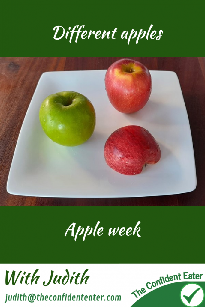 Apple variety and colours – for fussy eaters #applecolours, #applevariety, #applerecipesforfussyeaters, #applerecipesforpickyeaters, #coleslaw, #carrotcoleslaw #carrotrecipes, #trynewfoods, #funfoodsforpickyeaters, #funfoodsdforfussyeaters, #Recipesforpickyeaters, #helpforpickyeaters, #helpforpickyeating, #Foodforpickyeaters, #theconfidenteater, #wellington, #NZ, #judithyeabsley, #helpforfussyeating, #helpforfussyeaters, #fussyeater, #fussyeating, #pickyeater, #pickyeating, #supportforpickyeaters, #winnerwinnerIeatdinner, #creatingconfidenteaters, #newfoods, #bookforpickyeaters, #thecompleteconfidenceprogram, #thepickypack