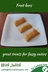 Fruit bars, perfect for fussy eaters #fruitbarsforfussyeaters, #fruitbarsforpickyeaters, #fruitbars, #trynewfoods, #funfoodsforpickyeaters, #funfoodsdforfussyeaters, #Recipesforpickyeaters, #helpforpickyeaters, #helpforpickyeating, #Foodforpickyeaters, #theconfidenteater, #wellington, #NZ, #judithyeabsley, #helpforfussyeating, #helpforfussyeaters, #fussyeater, #fussyeating, #pickyeater, #pickyeating, #supportforpickyeaters, #winnerwinnerIeatdinner, #creatingconfidenteaters, #newfoods, #bookforpickyeaters, #thecompleteconfidenceprogram, #thepickypack