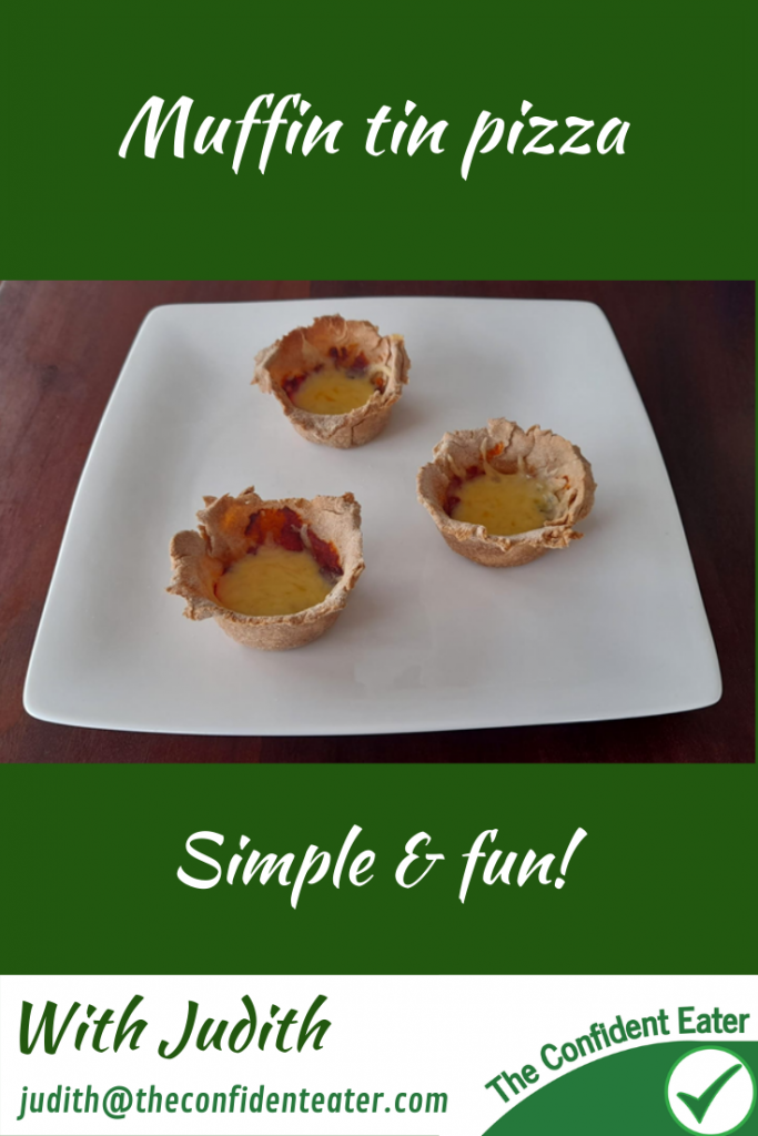 Muffin tin pizza – fun recipe for fussy eaters NZ, Judith Yeabsley Fussy Eating NZ, wrap mini pizza #muffintinpizza, #muffintinpizza, #muffintinpizzaforfussyeaters, #muffintinpizzaforpickyeaters, #trynewfoods, #funfoodsforpickyeaters, #funfoodsdforfussyeaters, #Recipesforpickyeaters, #helpforpickyeaters, #helpforpickyeating, #Foodforpickyeaters, #theconfidenteater, #wellington, #NZ, #judithyeabsley, #helpforfussyeating, #helpforfussyeaters, #fussyeater, #fussyeating, #pickyeater, #pickyeating, #supportforpickyeaters, #winnerwinnerIeatdinner, #creatingconfidenteaters, #newfoods, #bookforpickyeaters, #thecompleteconfidenceprogram, #thepickypack